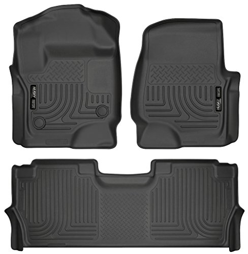 Husky Liners 13301-14401 - WeatherBeater Series - First and Second Row All Weather Floor Liners for 2017 Ford F-250/F-350/F-450 Crew - F550 Ford 4x4