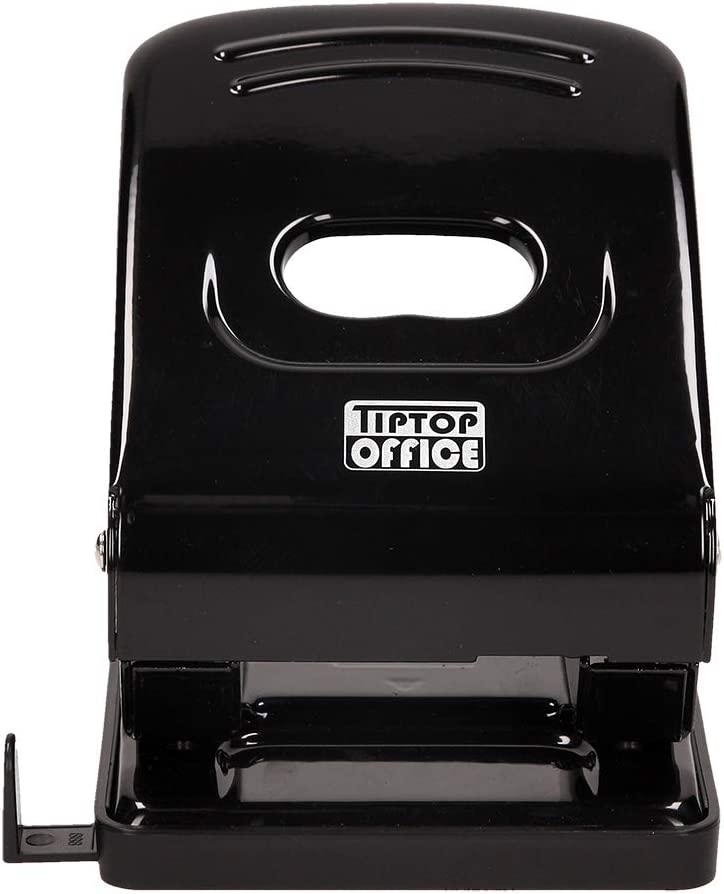 Schwarz TTO B/ürolocher 40 Blatt MP40 Metall