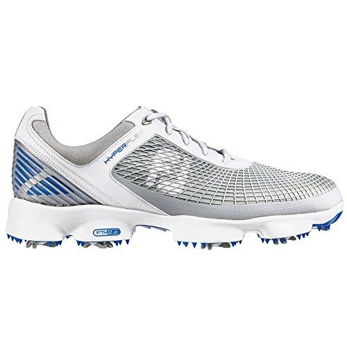 FootJoy HyperFlex - Zapatos para hombre White/Grey/Blue 51022