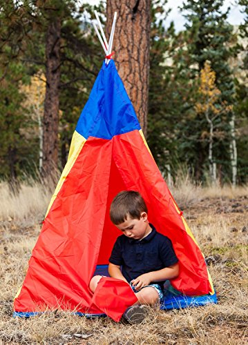 Polyester TeePee Red/Yellow/Blue - Limited Edition