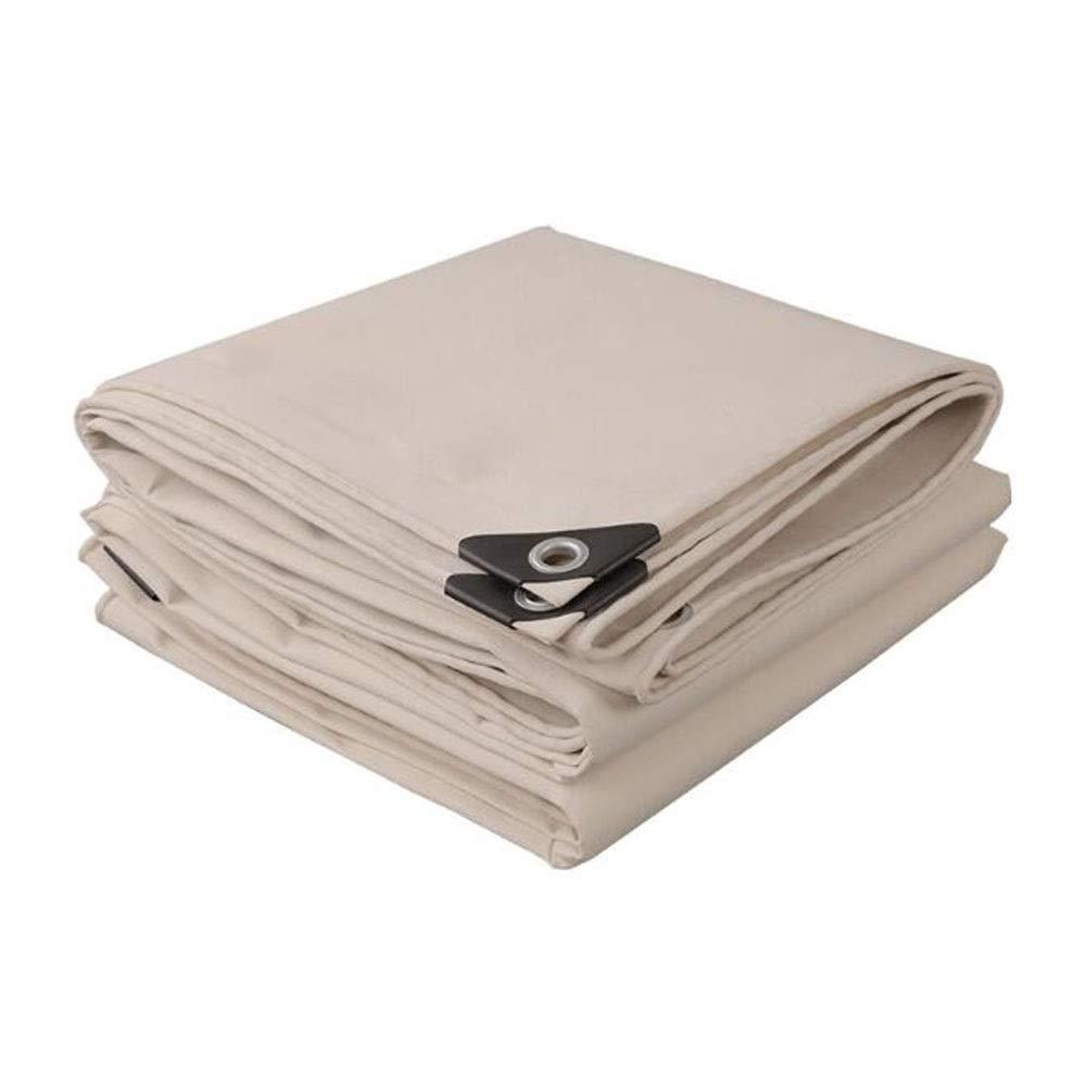 XUERUI シェルター ヘビーデューティ 防水 アイレット付き、 アウトドア ルーフ 防風 厚くする タープ グランドシートカバー スポーツ アウトドア (Color : 白い, Size : 6x8m) 白い 6x8m