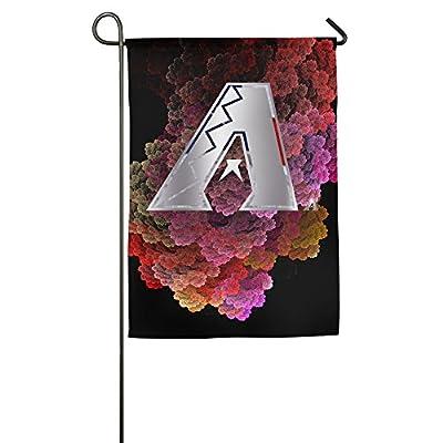 QingXING Arizona Diamondbacks Platinum Logo Garden Flag