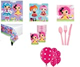 Lalaloopsy Birthday Party Supplies Pink Purple- Plates Cups Napkins Tablecover & More