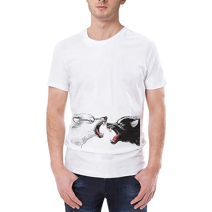 SamMoSon 2019 Camiseta de los Hombres,Que Imprimen Camiseta Camiseta de Manga Corta Camiseta Blusa Tops: Amazon.es: Ropa y accesorios