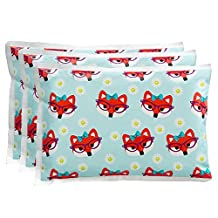 """Ice Pack for Lunch Boxes (3 Pack) by Bentology (6""""x4.5"""") - Fox Design"""