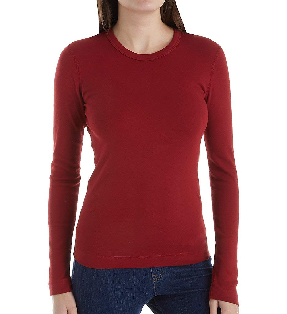 Three Dots Womens Cotton Knits Tunic Top, Deep Forest, Small
