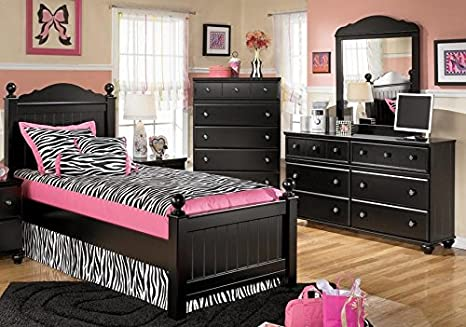 Amazon.com - Jaidyn Twin Bedroom Set with Youth Poster Bed ...