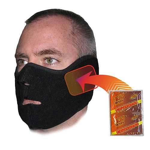 Heat Factory Fleece Face Mask for use with Hand Heat Warmers, (Heat Factory Fleece)