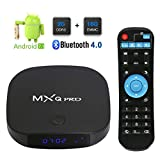 Android 7.1 TV Box, 2018 Leelbox MXQ Pro Android TV Box 2GB RAM 16GB ROM, Dual WiFi 2.4G+5G/BT 4.0 Support 4K (60Hz) / H.265