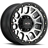 Vision Nemesis 17x9 Black Machined Wheel / Rim 5x5 with a -12mm Offset and a 71.5 Hub Bore. Partnumber 111-7973MF-12