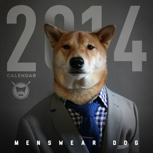 Menswear Dog 2014 Wall Calendar - Dogs 2014 Wall Calendar