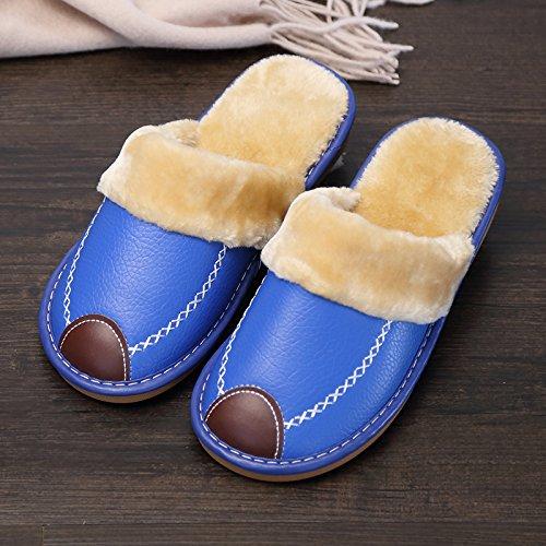 personaggio e Indoor post invernale pantofole grazioso Fankou dei pantofole 42 blu 185 di uomini femmina pacchetto fumetti cotone con scuro 41 cotone a4zdq7w