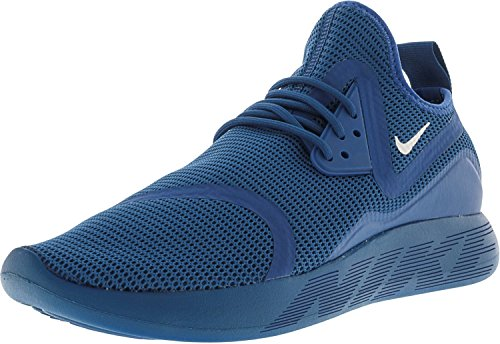 NIKE Mens Lunarcharge BR Industrial Blue/White Ankle-High Fashion Sneaker - 10.5M 96u056sU