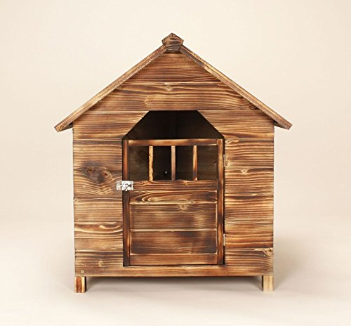Caseta de perro Pet Casa Exterior sólido de madera de cedro con techo impermeable perro Home: Amazon.es: Hogar
