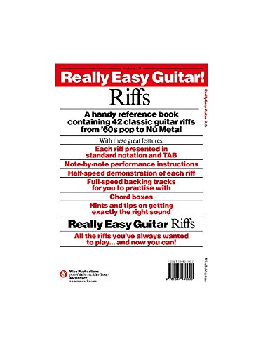 Really Easy Guitar! Riffs. Partituras, CD para Guitarra: Amazon.es ...