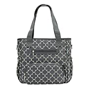SoHo Collection, Grand Central Station 7 Pieces Diaper Bag Set (Gray Charlotte)