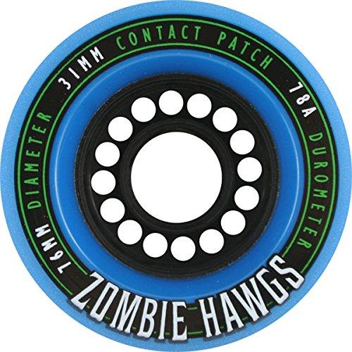 アンソロジー時間厳守外科医Hawgs Zombie Blue Longboard Wheels - 76mm 78a (Set of 4) by Hawgs Skateboard Wheels