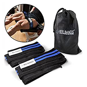 BFR BANDS Double Wrap Occlusion Training Bands for Legs & Calves, 3 Inch Wide Knee Wrap Style Bands, Blood Flow Restriction Bands Give Lean & Fast Muscle Growth Without Lifting Heavy Weights