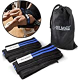 Doppelt Wrap Occlusion Training Bands For Legs & Calves, 3 Inch Wide Knee Wrap Style Bands, Blood Flow Restriction Bands Give Lean & Fast Muscle Growth without Lifting Heavy Weights