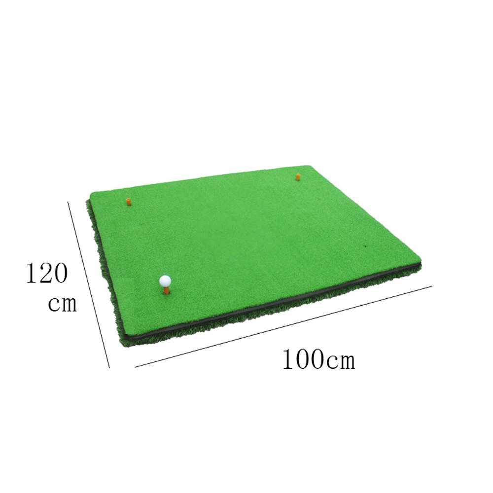Golf Hit Pad Indoor Outdoor Swing Practice Mats  Ball Pad Exerciser  Two-color Turf 100cm120cm