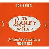 "6"" x 10 3/4"" Logan Wrap ""Midget"" - Sized Interfolded Deli Wrap Wax Paper 250'"