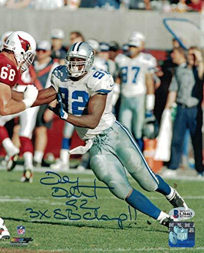 Tony Tolbert Signed Dallas Cowboys 8x10 Photo 3x SB Champ BAS