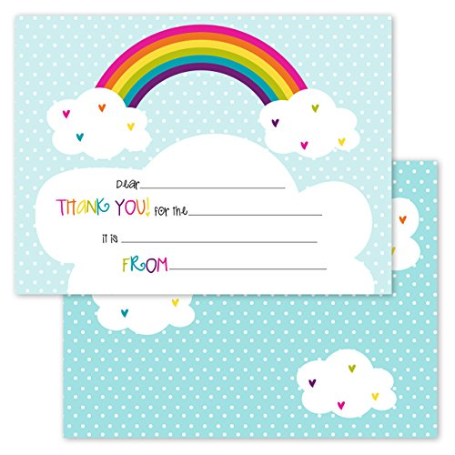 Rainbows Hearts Kids Thank Note product image