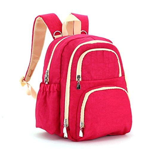 Mommy Bolsa Bolsa de hombro Para salir Bolsa madre Bolsa multiusos Bolsa madre-niño Bolsa multiusos ( Color : Rosa Roja ) Rosa Roja