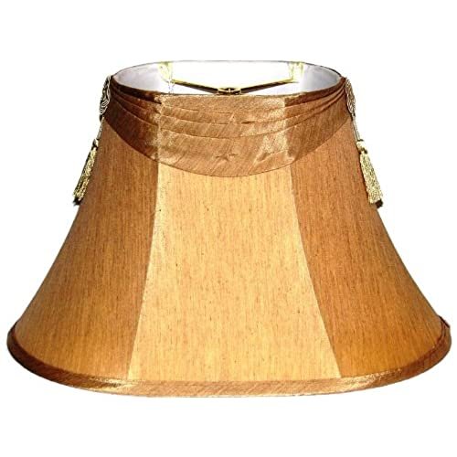 Tassel lamp shades amazon a ray of light 6917105bt 6 inch by 9 inch by 17 inch by 105 inch french beige shantung silk oval shade with side tassels aloadofball Images