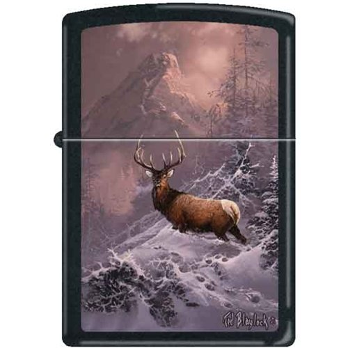 Bull Elk Hunters Dream Zippo Lighter by Blaylock