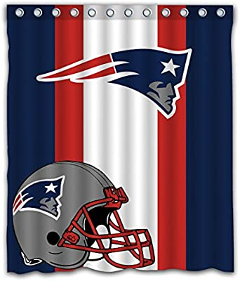 Amazon Sonaby Custom Stripe New England Patriots Waterproof Fabric Shower Curtain For Bathroom Decoration 60x72 Inches Home Kitchen