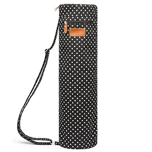 ELENTURE Full-Zip Exercise Yoga Mat Carry Bag with Multi-Functional Storage Pockets (Dot)