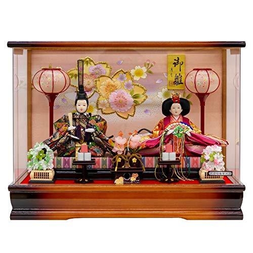 雛人形 親王飾り ケース入り幅48cm [fz-216] ひな人形   B07K76V8PZ