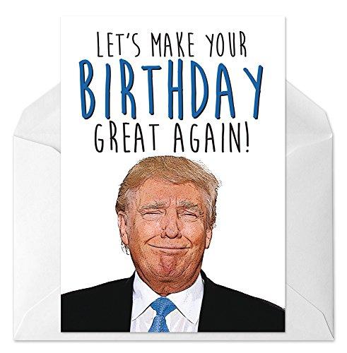 Amazon ThPrntShp Donald Trump Birthday Card