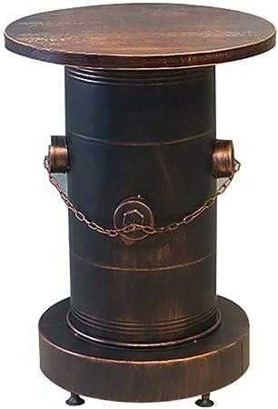 BNSDMM Silla de Bar Combinación de Taburete de Hierro Forjado Vintage Lata de Aceite Estilo Industrial