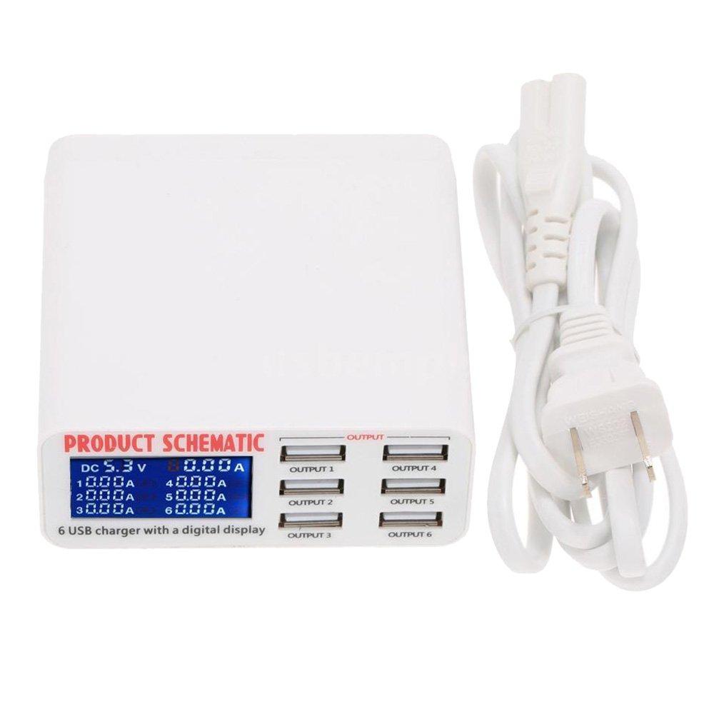 amazon com tccmebius tcc 899 usb charger portable multi usb port rh amazon com