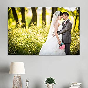 "wall26 Personalized Photo to Canvas Print Wall Art - Customize Your Photo On Canvas Wall Art - Digitally Printed - 24""x36"" (Additional"