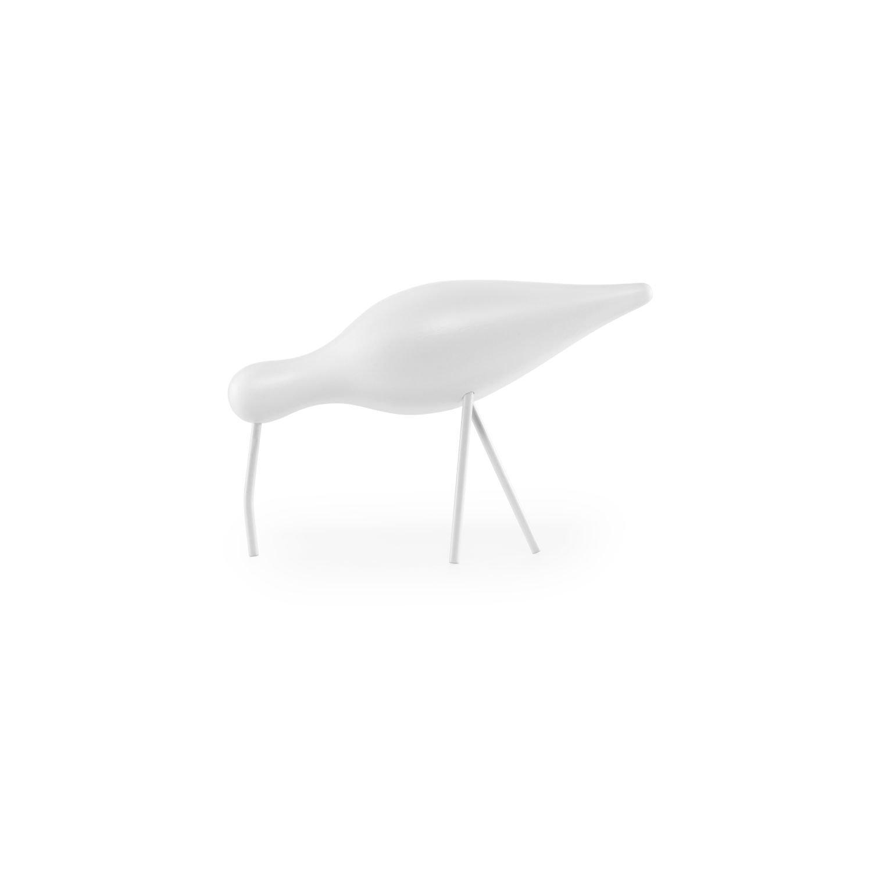 Normann Copenhagen Shorebird - Weiß Weiß - L - Sigurjón Pálsson - Design - Holztier