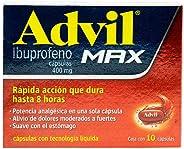 Advil Max, 10 Cápsulas Líquidas.