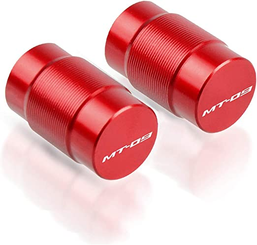 2pcs Diabolos M6 Tornillos CNC Aluminio para Yamaha MT-09//SP MT09//SP 2014-2019(Rojo)