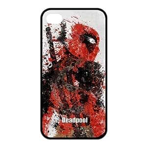 LeonardCustom Protective Hard Rubber Coated Phone Case Cover for iPhone 4 4S , Deadpool -LCI4U219