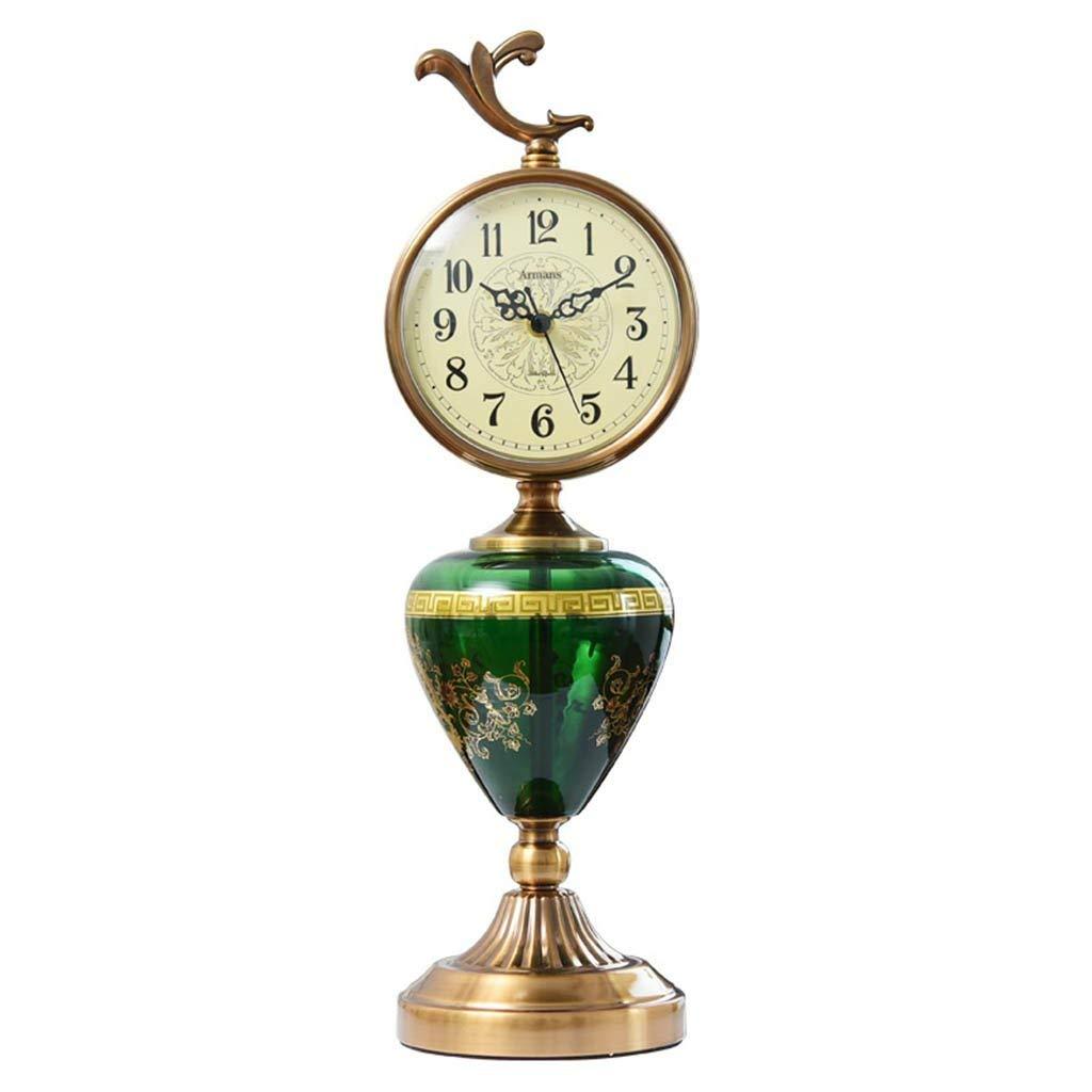 デスククロックファミリークロック高級ヴィンテージ置時計クリエイティブアート不朽の静音リビングルーム用リビングルーム寝室用オフィス B07TFCQDYM