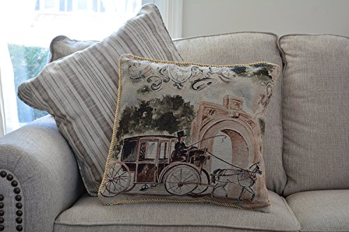 Tache 2 Piece 18 X 18 Inch Afternoon Stroll Tapestry Throw Pillow Cushion Cover Set