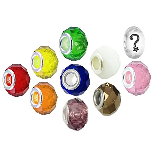 Rainbow Faceted Glass Charms for European Charm - Of Glasses Timeline