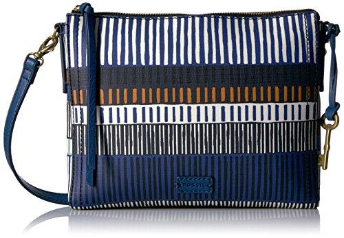 Navy Emma Bag Small Stripe Fossil Crossbody pg1Tvq