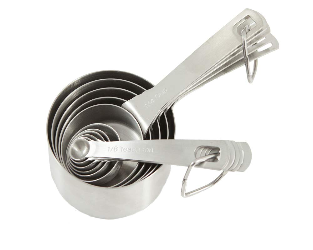 Stainless Steel Measuring Cups & Measuring Spoons Set by Tumbler Home- 11 Pc Commercial Professional Grade, Stackable Kitchen Tools