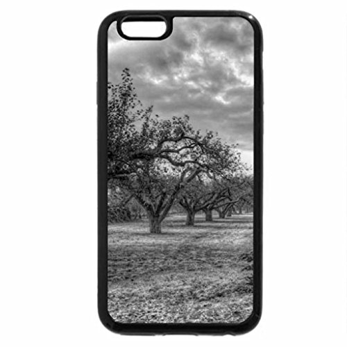 iPhone 6S Plus Case, iPhone 6 Plus Case (Black & White) - Frosty Orchard.