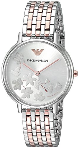 Emporio Armani Women's 'Fashion' Quartz Stainless Steel Casual Watch, Color:Rose Gold-Toned (Model: AR11113)