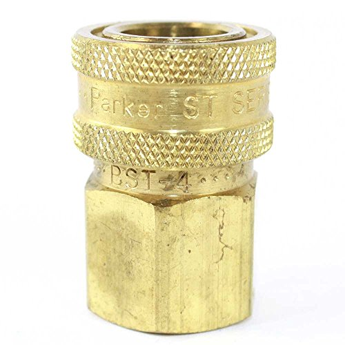 Interstate Pneumatics CNV880B 1/2 Inch Straight Through Coupler 1/2 Inch Female NPT - No Valve by Interstate Pneumatics