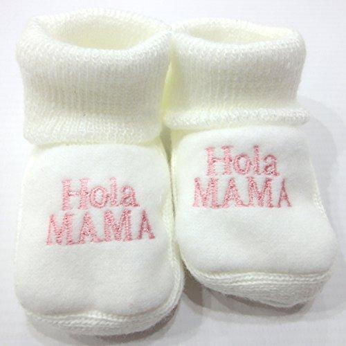 PEKITAS Pack 2 Pares Bebe Niño Patuco Zapato Con Letras Bordadas 80% Acrílico 20% Algodón 0 a 3 Meses Fabricado En Portugal